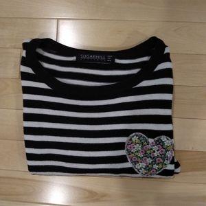 Sugarhill sweater with hearth embroidery